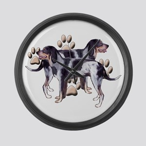 best friends coonhound Large Wall Clock