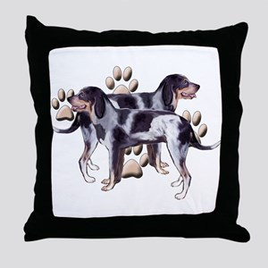best friends coonhound Throw Pillow