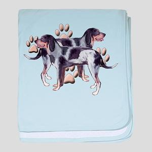 best friends coonhound baby blanket