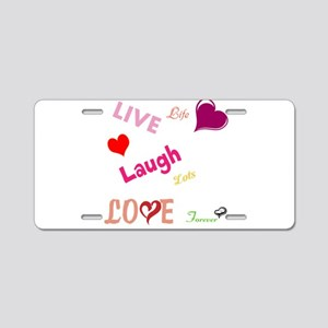 live laugh love Aluminum License Plate