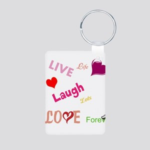 live laugh love Aluminum Photo Keychain