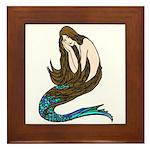 Abbott's Mermaid Framed Tile