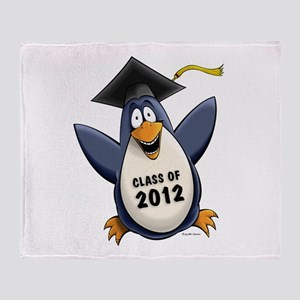 2012 Graduate Penguin Throw Blanket