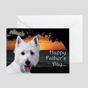 Funny Westie Father's Day Card