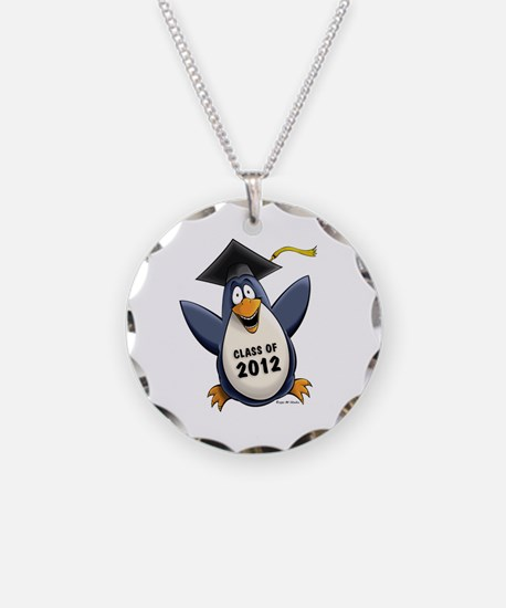 2012 Graduate Penguin Necklace Circle Charm