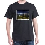 Look unto the mountains Black T-Shirt