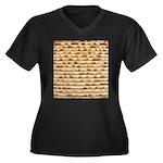 Matzah Women's Plus Size V-Neck Dark T-Shirt