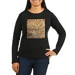 Matzah Women's Long Sleeve Dark T-Shirt