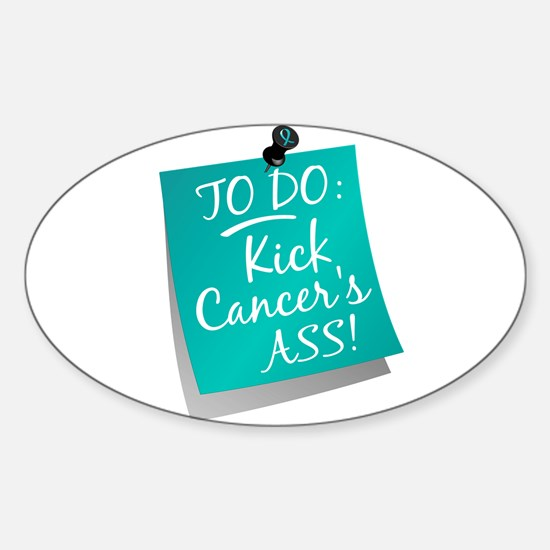To Do 1 Ovarian Cancer Sticker (Oval)