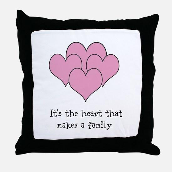 many hearts Throw Pillow