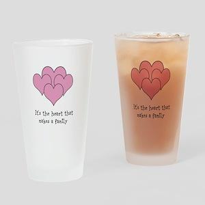 many hearts Drinking Glass