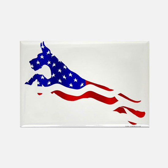 Great Dane Jumper Flag Rectangle Magnet