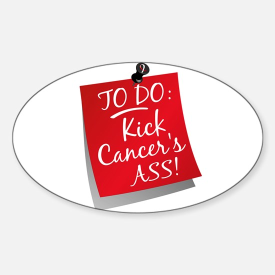 To Do 1 Oral Cancer Sticker (Oval)