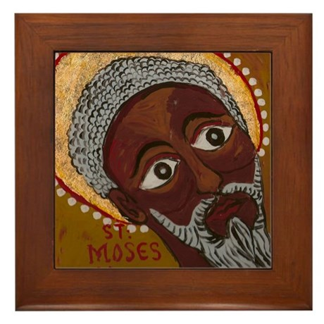 Saint Moses The Black Framed Tile