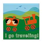 I Go Travelling Tile Coaster
