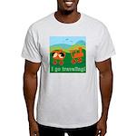 I Go Travelling Ash Grey T-Shirt
