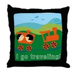 I Go Travelling Throw Pillow