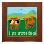 I Go Travelling Framed Tile