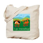 I Go Travelling Tote Bag
