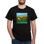 I Go Travelling Black T-Shirt