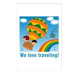 On Balloon Postcards (Package of 8)