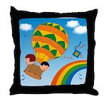 On Balloon Throw Pillow