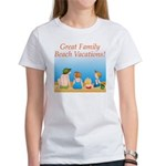 Family On Beach Women's T-Shirt