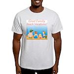 Family On Beach Ash Grey T-Shirt
