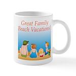 Family On Beach Mug