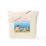 Family On Beach Tote Bag