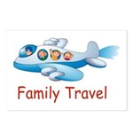 Family On Airplane Postcards (Package of 8)