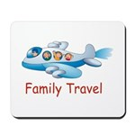 Family On Airplane Mousepad