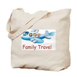 Family On Airplane Tote Bag