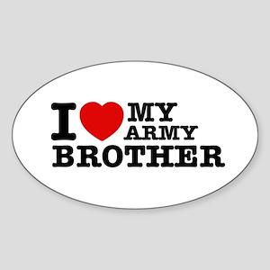 I love My Army Brother Sticker (Oval)