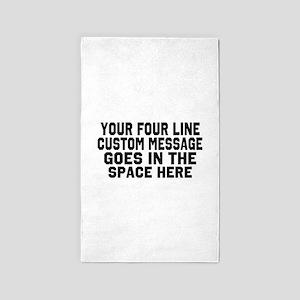 Customize Four Line Text Area Rug