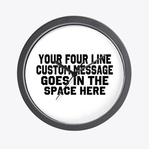 Customize Four Line Text Wall Clock