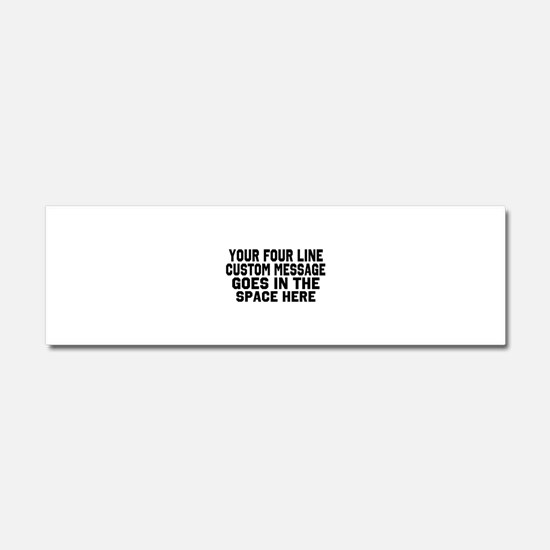 Customize Four Line Text Car Magnet 10 x 3