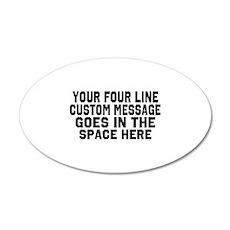 Customize Four Line Text Wall Sticker