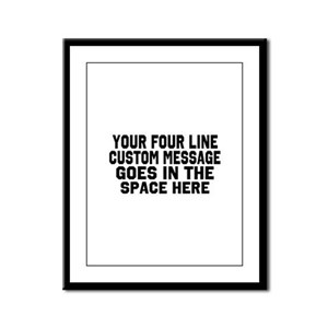 Customize Four Line Text Framed Panel Print
