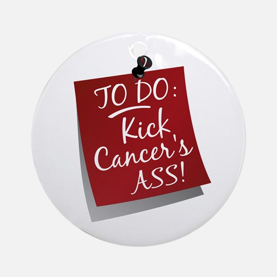 To Do 1 Head and Neck Cancer Ornament (Round)