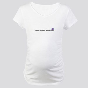 savasana Maternity T-Shirt