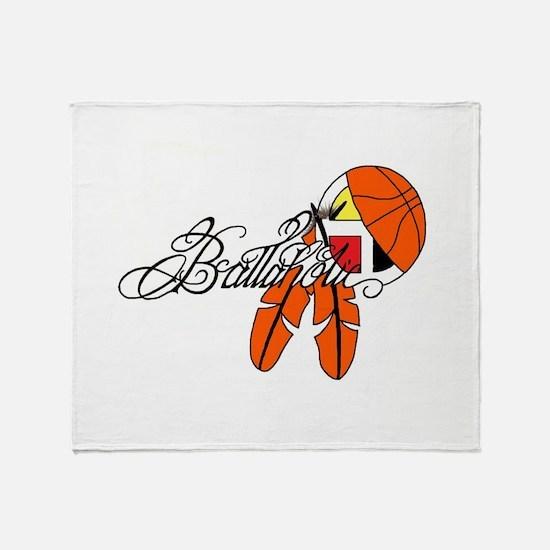 Ballaholic - NATIVE BALLER Throw Blanket