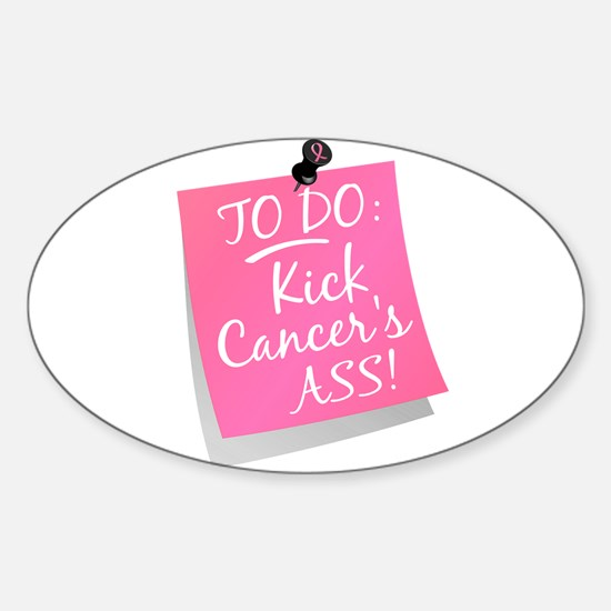 To Do 1 Breast Cancer Sticker (Oval)