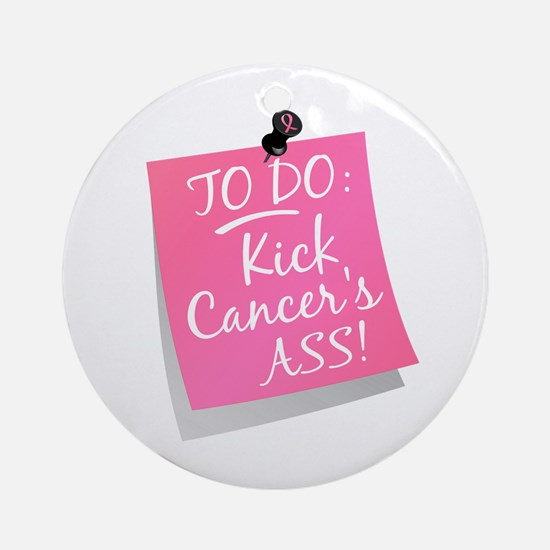 To Do 1 Breast Cancer Ornament (Round)