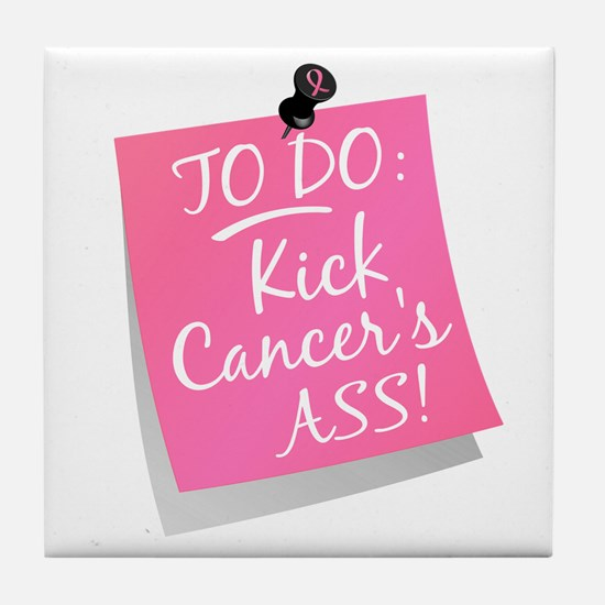To Do 1 Breast Cancer Tile Coaster