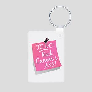 To Do 1 Breast Cancer Aluminum Photo Keychain