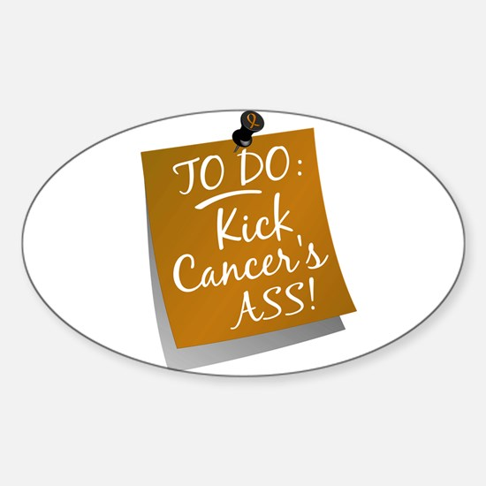 To Do 1 Appendix Cancer Sticker (Oval)