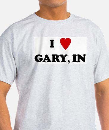I Love Gary Ash Grey T-Shirt
