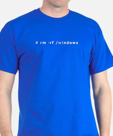 # rm -rf /windows - T-Shirt