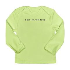# rm -rf /windows - Long Sleeve Infant T-Shirt